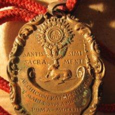 Medallas históricas: MEDALLA ARCHICOFRADIA SANTA MARIA. MATARÓ. 1809. 6 X 4,5 CM. Lote 213976845