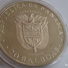 Médailles historiques: PANAMA- 20 BALBOAS 1975 PLATA 130 GR. SC UNC ( P290). Lote 214297041
