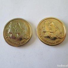 Medallas históricas: LOTE 2 MEDALLAS * BODA IÑAKI Y CRISTINA 1997. Lote 214502873