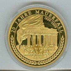 """Medallas históricas: MEDALLA """"HISTORIA ALEMANIA"""", 20 AÑOS DE CAÍDA DEL MURO DE BERLIN 2009 REPÚBLICA DEMOCRÁTICA ALEMANA.. Lote 214624261"""