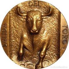 Medallas históricas: ESPAÑA. MEDALLA F.N.M.T. SERIE TAUROMAQUIA -SALIDA TORO-. 1.963. BRONCE. Lote 214761353