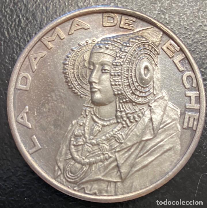 ESPAÑA, MEDALLA DE LA DAMA DE ELCHE (Numismática - Medallería - Histórica)