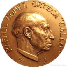 """Medallas históricas: ESPAÑA. MEDALLA FNMT. RAFAEL GOMEZ ORTEGA """"GALLO"""". 1.986. BRONCE. Lote 214942938"""