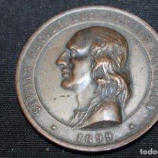 Medallas históricas: MEDALLA , SEVILLA RECIBE LOS RESTOS DE COLÓN, 1899, BRONCE. Lote 215155418
