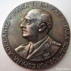 """Medallas históricas: MEDALLA CONMEMORATIVA FRANCISCO FRANCO """"PARA TI LA PAZ"""". Lote 215300412"""