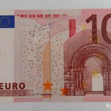 Medaglie storiche: BILLETE-10 EUROS 2002 FRANCIA TRIHET - U - L029G2 SC UNC ( T084 ). Lote 215721042