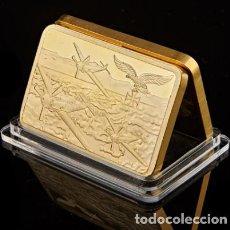 Medallas históricas: LINGOTE ORO 24KT AVIONES COMBATE ALEMANI NAZI - DEUTSCHE LUFTWAFFE. Lote 215753201