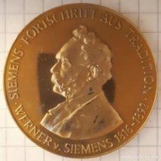 Medallas históricas: MEDALLA WERNER VON SIEMENS. Lote 215841920