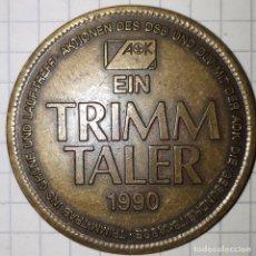 Medallas históricas: MEDALLA DE 1990 DEL FONDO DE SALUD AOK. Lote 216373322