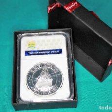 Medallas históricas: CONMEMORATIVA MONEDA SOUVENIR ANIVERSARIO TITANIC INGLATERRA QUEEN ELIZABETH PLATEADO LIBRA. Lote 216657242