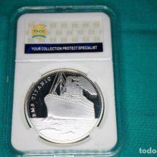 Medallas históricas: CONMEMORATIVA SOUVENIR MONEDAS DINERO ANIVERSARIO TITANIC TRAGEDIAS VOYAGE RMS ICEBERGS INGLATERRA. Lote 216657597