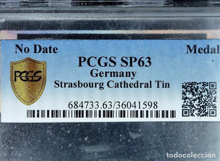 Medallas históricas: Medalla PCGS SP63 Imperio Alemán Catedral Estrasburgo - Sin Circular - Foto 2 - 216712380