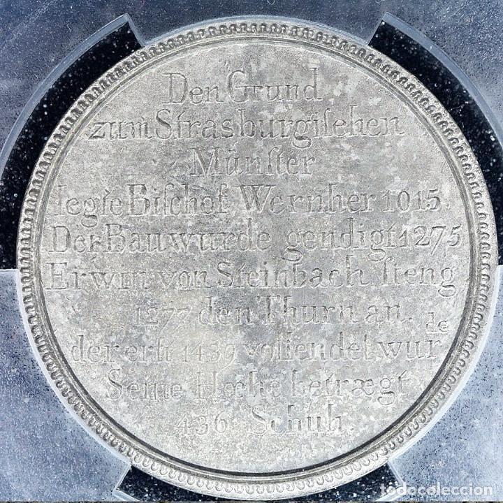 Medallas históricas: Medalla PCGS SP63 Imperio Alemán Catedral Estrasburgo - Sin Circular - Foto 3 - 216712380
