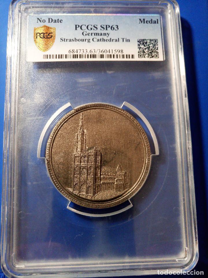 Medallas históricas: Medalla PCGS SP63 Imperio Alemán Catedral Estrasburgo - Sin Circular - Foto 4 - 216712380