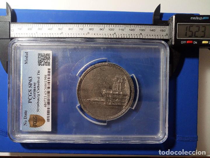Medallas históricas: Medalla PCGS SP63 Imperio Alemán Catedral Estrasburgo - Sin Circular - Foto 6 - 216712380