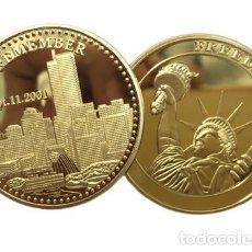 Médailles historiques: MONEDA PLATEADA ORO 40G / PC DE LA LIBERTAD DE LOS EEUU, 9.11 MONEDA CONMEMORATIVA SIN CIRCULAR. Lote 216714765