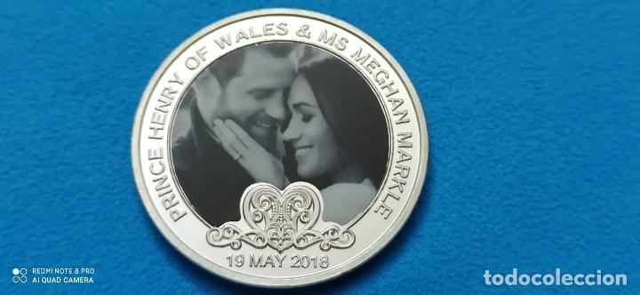 Medallas históricas: WR Harry y Meghan boda Familia Real Británica colección Memorial moneda de metal chapado plata - Foto 2 - 216830365