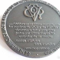 Medaglie storiche: MEDALLA- GENERALISIMO FRANCO 1892-1975 TESTAMENTO - PESO 220 GR.BRONCE SC UNC ( X034 ). Lote 228774135