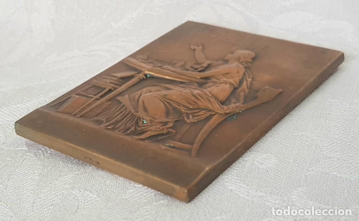 Medallas históricas: MADALLA PLACA DE BRONCE ANTIGUA LOUIS PASTEUR 1822 / 1895 FIRMADA G. PRUDHOMME 1910 - Foto 6 - 217284720