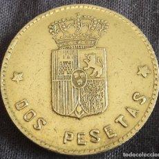 Medallas históricas: FICHA DE 2 PESETAS CASINO CLUB HIPICO MADRID. Lote 217977617