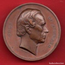 Medallas históricas: PINTOR JOSE DE MADRAZO 1857 - GRABADORT FERNANDEZ PESCADOR - EXQUISITA MEDALLA. Lote 218404581