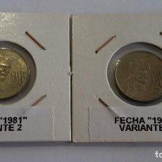 Medallas históricas: ERROR- MEXICO 20 CENTAVOS 1981- VARIANTE 1 Y 2 EN LA FECHA ( X101). Lote 218417765