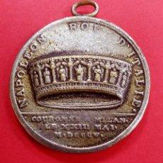 Medallas históricas: MEDALLA NAPOLEÓN REY DE ITALIA. CORONA DE MILÁN. AÑO 1808. Lote 218830180