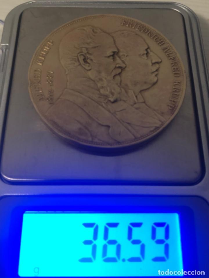 Medallas históricas: Medalla 1892 Alfred Krupp & Friedrich Alfred Krupp bronce - Foto 2 - 218839270