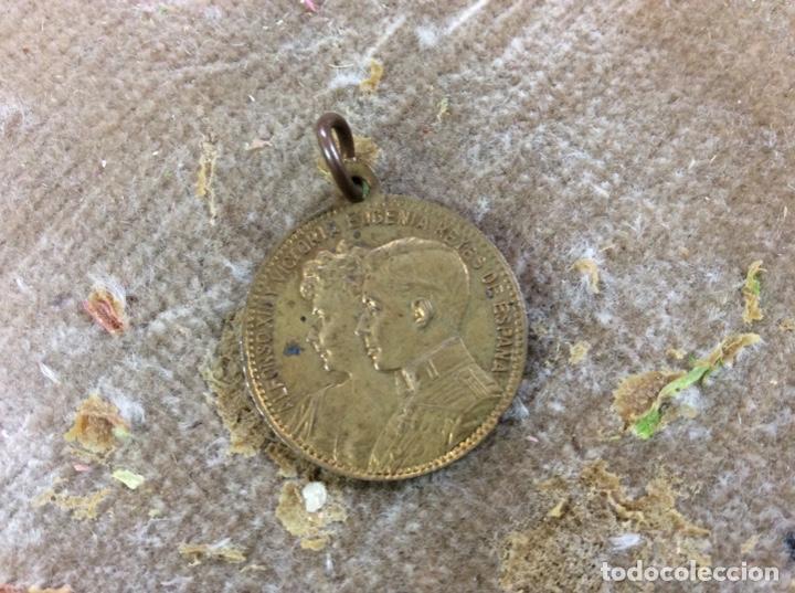 MEDALLA ALFONSO XIII MARIA VICTORIA (Numismática - Medallería - Histórica)