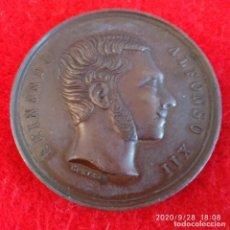 Medallas históricas: MEDALLA DE BRONCE, ALFONSO XII, EXPOSICIÓN NACIONAL VINÍCOLA, 1877, PERFECCIÓN,40 MM. BUEN EJEMPLAR. Lote 219095387