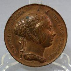 Medallas históricas: MEDALLA ISABEL II REINA DE ESPAÑA AL CUERPO DE INGENIEROS DEL EJERCITO MEDIADOS DEL SIGLO XIX. Lote 219299297