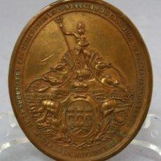 Medallas históricas: MEDALLA INAUGURACIÓN DE LAS OBRAS CONDUCCIÓN DE AGUAS LA HABANA CUBA REINADO ISABEL II 1858. Lote 219301190
