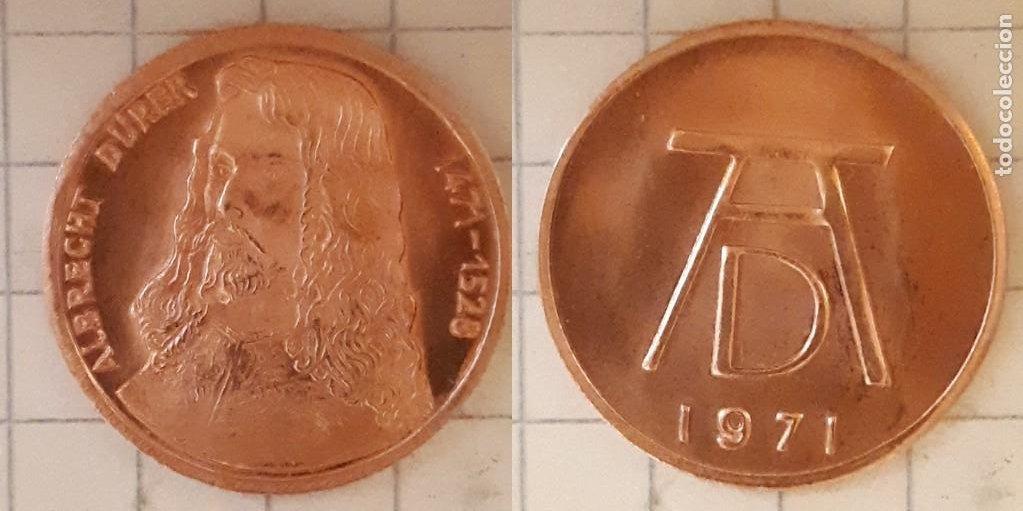 MEDALLA CONMEMORATIVA DEL NACIMIENTO DE ALBRECHT DURER - DISEÑO 1 (Numismática - Medallería - Histórica)