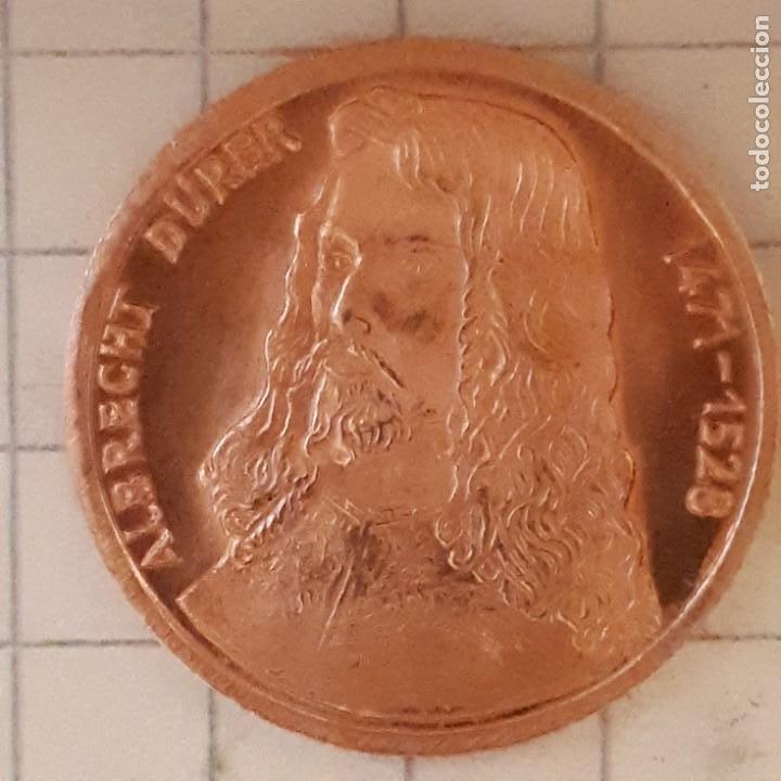 Medallas históricas: MEDALLA CONMEMORATIVA DEL NACIMIENTO DE ALBRECHT DURER - DISEÑO 1 - Foto 2 - 219388828