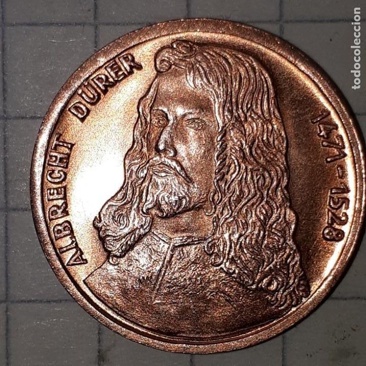 Medallas históricas: MEDALLA CONMEMORATIVA DEL NACIMIENTO DE ALBRECHT DURER - DISEÑO 1 - Foto 4 - 219388828
