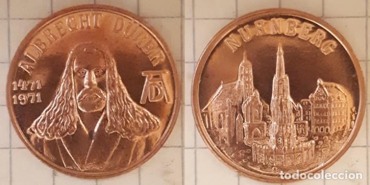 MEDALLA CONMEMORATIVA DEL NACIMIENTO DE ALBRECHT DURER - DISEÑO 3 (Numismática - Medallería - Histórica)