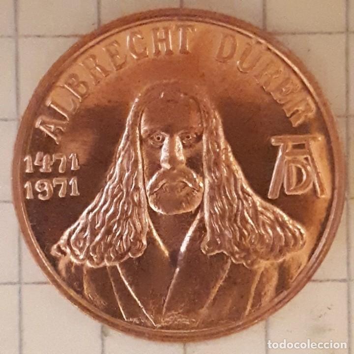 Medallas históricas: MEDALLA CONMEMORATIVA DEL NACIMIENTO DE ALBRECHT DURER - DISEÑO 3 - Foto 2 - 219390177