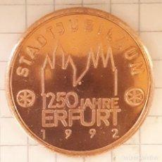Medallas históricas: MEDALLA CONMEMORATIVA DEL 1250 ANIVERSARIO DE LA CIUDAD DE ERFURT. Lote 219403800