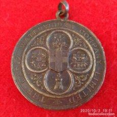 Medallas históricas: MEDALLA DE BRONCE, CONDUCCIÓN DE AGUAS A CÁDIZ, 1874, GRABADO POR HERM. WYON, 45 MM.. Lote 219639900