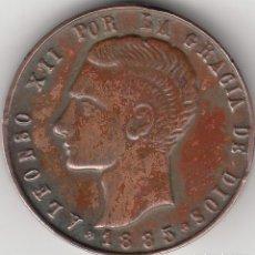Medallas históricas: MEDALLA: 1885 SEVILLA. POR LA MUERTE DEL REY ALFONSO XII. Lote 219857786