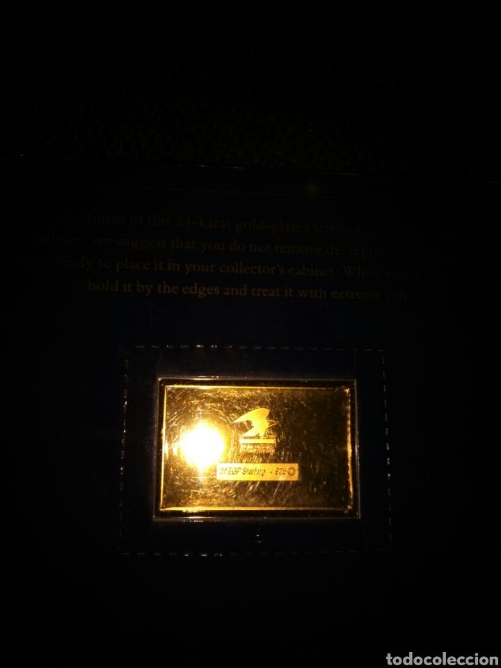 Medallas históricas: LINGOTE PLATA BAÑO DE ORO THE AMERICAN DREAM 1492-1992 - Foto 2 - 221294266