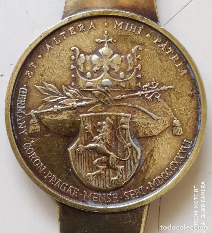 Medallas históricas: MEDALLA EN ABRECARTAS SOLINGEN ANTIGUA - Foto 4 - 221314255