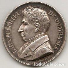 Medallas históricas: MEDALLA DE C.J.A. MATHIEU DE DOMBASLE. MARCADO ARGENT. PLATA. Lote 221333690