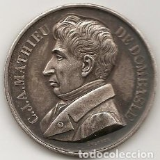Medallas históricas: MEDALLA DE C.J.A. MATHIEU DE DOMBASLE. MARCADO ARGENT. PLATA. Lote 221333931