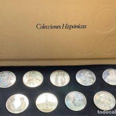 Medallas históricas: ESPAÑA, COLECCIONES HISPÁNICAS, 9 MEDALLAS DE LA VIDA DE FRANCO. Lote 221772221