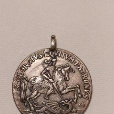 Medallas históricas: MEDALLA DE PLATA DE S. GEORGIVS EQVITVM PATRONVS DEL SIGLO DEL XVIII A LA MITAD DEL XIX. Lote 222177101