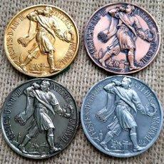 Médailles historiques: LOTE 4 MEDALLAS FALLAS JUNTA CENTRAL FALLERA VALENCIA. PEP DHONOR. Lote 222226607