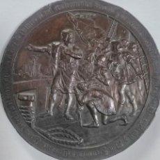 Medallas históricas: MEDALLA BRONCE CUARTO CENTENARIO DESCUBRIMIENTO AMÉRICA CRISTOBAL COLÓN. B. MAURA. 7CMS. Lote 222257052