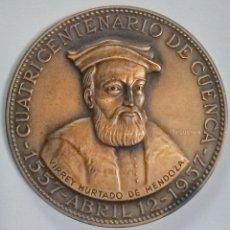 Medallas históricas: MEDALLA CONMEMORATIVA DEL CUARTO CENTENARIO DE LA CIUDAD DE CUENCA.. Lote 222258055