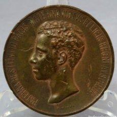 Medallas históricas: MEDALLA EN BRONCE AUGUSTA PROCLAMACIÓN Y JURA DE LA CONSTITUCIÓN DE ALFONSO XIII 1902. Lote 222453715